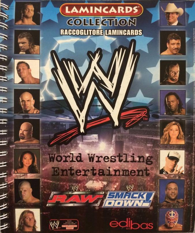 prima collezione di Lamincards WWE
