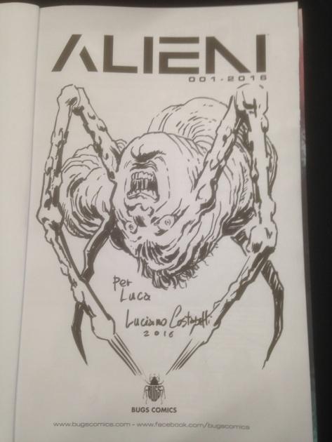 The Thing - disegno per Alieni di Luciano Costarelli